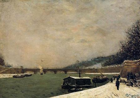 The Seine near the Jena Bridge 1875 - Paul Gauguin reproduction oil painting
