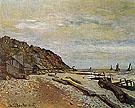 Beach at Honfleur 1864 - Claude Monet reproduction oil painting
