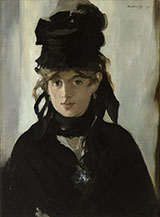 Berthe Morisot 1872 - Edouard Manet reproduction oil painting