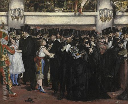 Masked Ball at the Opera c1873 - Edouard Manet reproduction oil painting