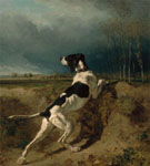 Hound Pointing 1860 - Constant Troyon