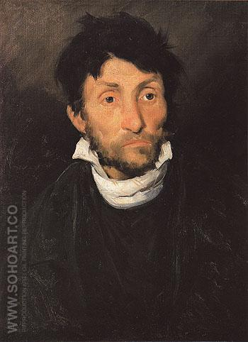 Portrait of a Kleptomaniac - Theodore Gericault reproduction oil painting