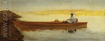 The Ducks Repast 1874 - Guiseppe De Nittis reproduction oil painting