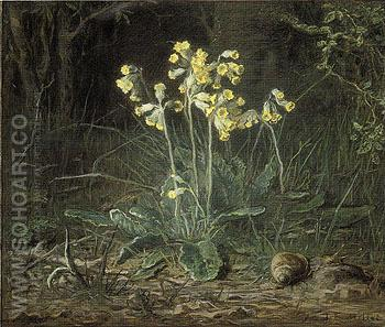 Primroses 1867 - Jean Francois Millet reproduction oil painting