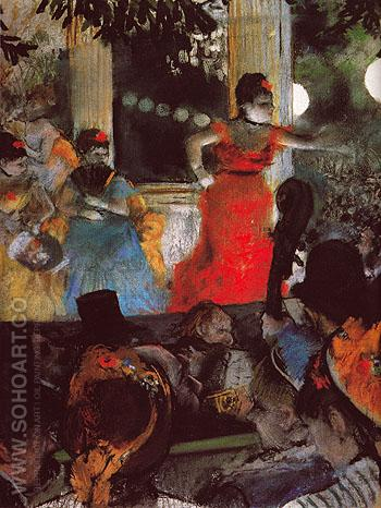 Cafe Concert at Les Ambassadeurs c1875 - Edgar Degas reproduction oil painting