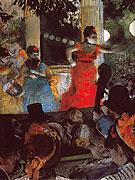 Cafe Concert at Les Ambassadeurs c1875 - Edgar Degas reproduction oil painting