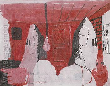 Downtown 1969 - Philip Guston reproduction oil painting