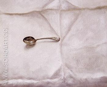 Sams Spoon 1990 - Avigdor Arikha reproduction oil painting