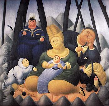 Sunday Afternoon 1967 - Fernando Botero reproduction oil painting