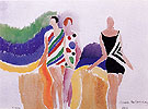 Girls in Swimming Costumes 1928 - Sonia Delaunay