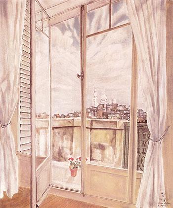 My Studio View of Paris 1939 - Tsugouharu Foujita reproduction oil painting