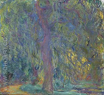 Weeping Willow c1918 original size - Claude Monet reproduction oil painting