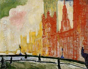 The Houses of Parliament from Westminster Bridge c1906 - Andre Derain reproduction oil painting