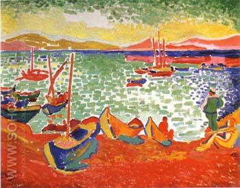 Boats at Collioure Harbor 1905 - Andre Derain reproduction oil painting