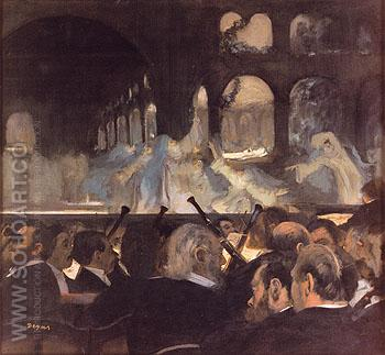 Ballet Scene from Meyerbeers Opera 1876 - Edgar Degas reproduction oil painting