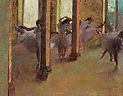 Dancers Practicing in the Foyer c1875 - Edgar Degas reproduction oil painting