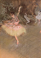 The Star c1878 - Edgar Degas reproduction oil painting