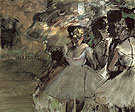 Three Dancers in the Wings c1880 - Edgar Degas reproduction oil painting