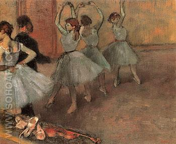 Dancers in Blue c1882 - Edgar Degas reproduction oil painting