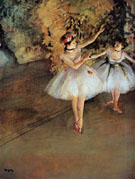 Two Dancers on the Stage 1874 - Edgar Degas reproduction oil painting