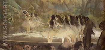 Ballet at the Paris Opera 1877 - Edgar Degas reproduction oil painting
