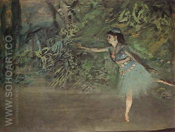 Dance on the Stage c1877 - Edgar Degas reproduction oil painting