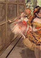 Dancers in the Wings 1880 - Edgar Degas reproduction oil painting