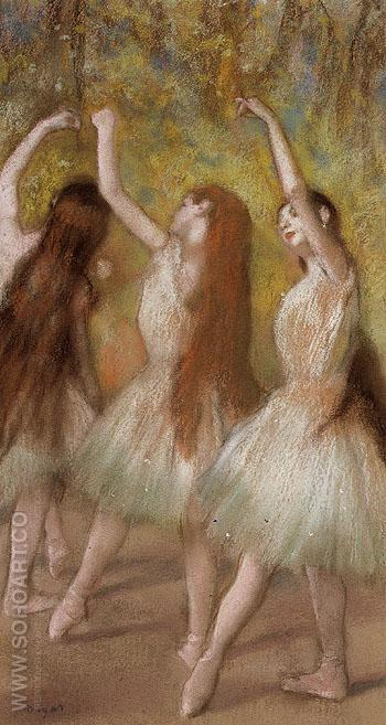 Green Dancers c1885 - Edgar Degas reproduction oil painting