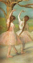 Dancers in Pink c1885 - Edgar Degas reproduction oil painting
