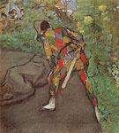 Harlequin 1885 - Edgar Degas reproduction oil painting