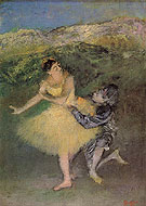 Harlequin and Columbine c1900 - Edgar Degas reproduction oil painting