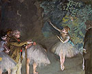 Rehearsal of the Ballet c1876 - Edgar Degas reproduction oil painting