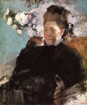 Portrait of Woman Mlle Malo c1868 - Edgar Degas reproduction oil painting