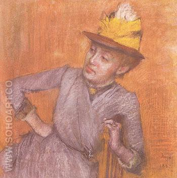 Portrait of Woman 1887 - Edgar Degas reproduction oil painting