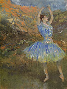 Blue Dancer c1894 - Edgar Degas reproduction oil painting
