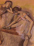 Dancers in Repose c1898 - Edgar Degas reproduction oil painting