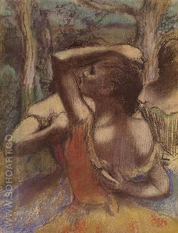 Dancers c1897 - Edgar Degas reproduction oil painting