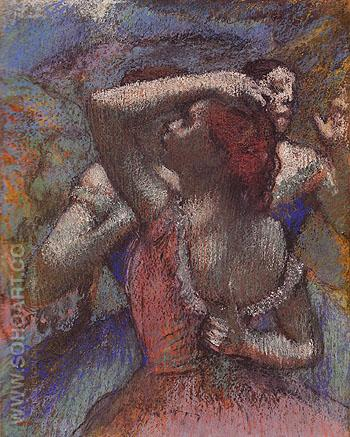 Dancers c1899 - Edgar Degas reproduction oil painting