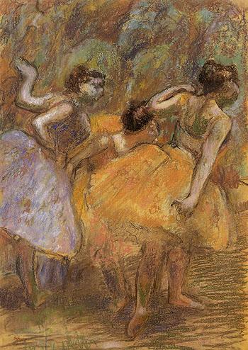 Dancers c1900 - Edgar Degas reproduction oil painting