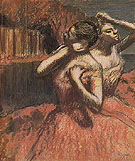 Two Dancers c1895 - Edgar Degas reproduction oil painting