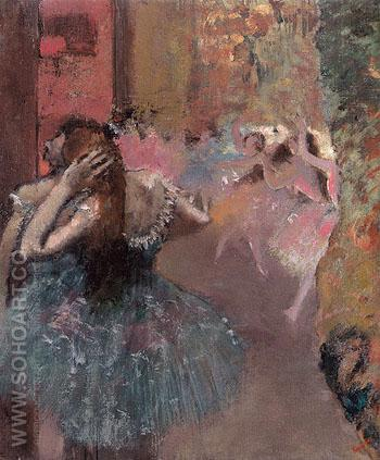Ballet Scene c1878 - Edgar Degas reproduction oil painting