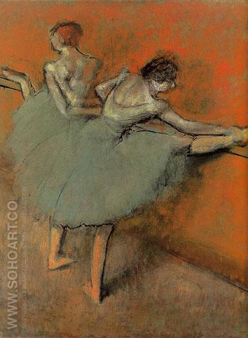 Dancers at the Barre c1900 - Edgar Degas reproduction oil painting
