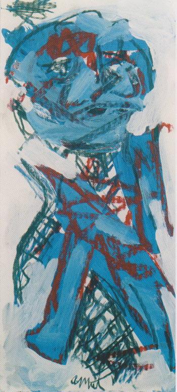 Blue Boy 2002 - Karel Appel reproduction oil painting