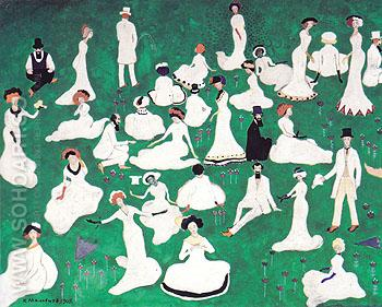 The Leisure of High Society 1908 - Kasimir Malevich reproduction oil painting