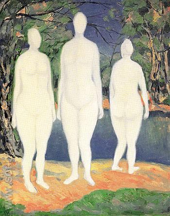 Bathers c1908 - Kasimir Malevich reproduction oil painting