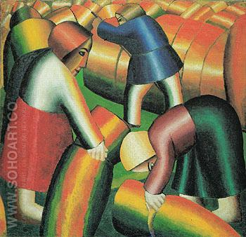The Harvest of the Century 1912 - Kasimir Malevich reproduction oil painting