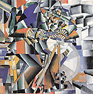 The Knife Grinder c1912 - Kasimir Malevich reproduction oil painting