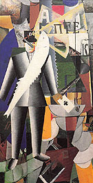 The Aviator 1914 - Kasimir Malevich reproduction oil painting