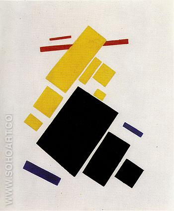 Suprematist Composition Airplane Flying 1915 - Kasimir Malevich reproduction oil painting