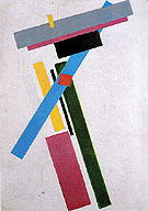 Suprematism 1915 - Kasimir Malevich reproduction oil painting